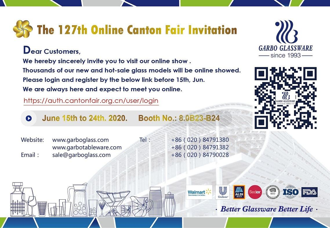 Garbo Glassware in 127th Online Canton Fair
