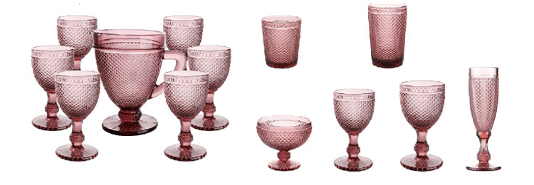 150 cc Classicware color rosa Vidrio como champán Fiestas de boda Copas tostadas Copas de cóctel para fiestas