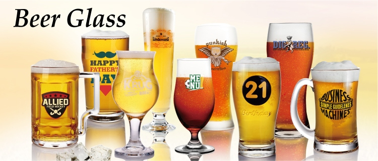 14oz Custom beer glasses clear large beer mug for pub bar party