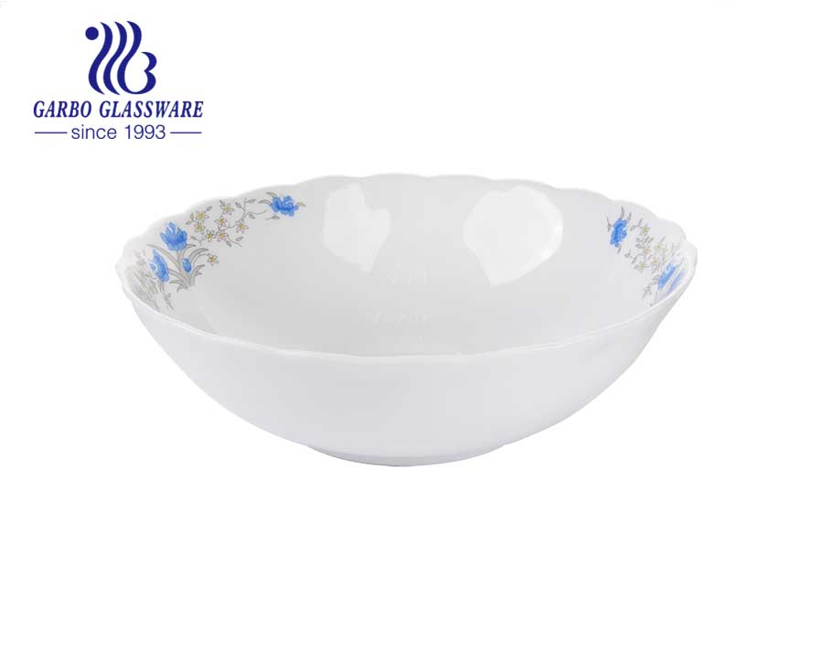 9inch round white The Tableware Opal Tempered Glass Dinnerware salad food bowls