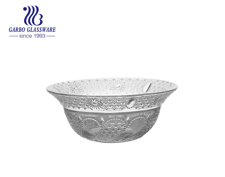 engraved glass bowl