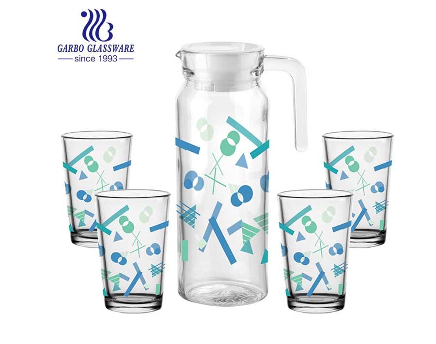 5 UNIDS venta caliente estilo europeo precio de fábrica barato conjunto de cristalería promocional de calidad alimentaria conjunto de agua potable