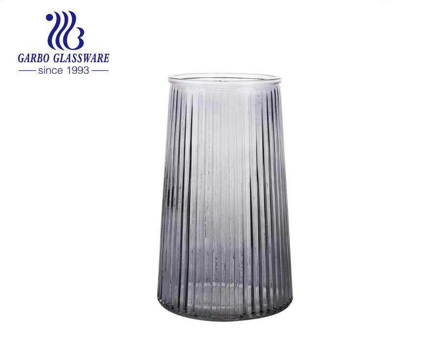 Vase Glass, Purple Glass VaseSingle Flower Vase Decorative Vintage Flower Vase for Wedding Home and Office Decor