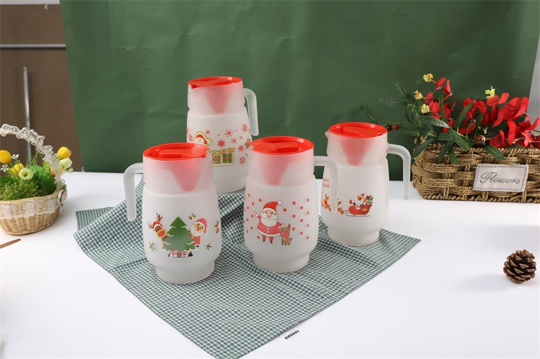 Do you know what of glass cup and glass jug  suitable for Christmas  gift order promotion