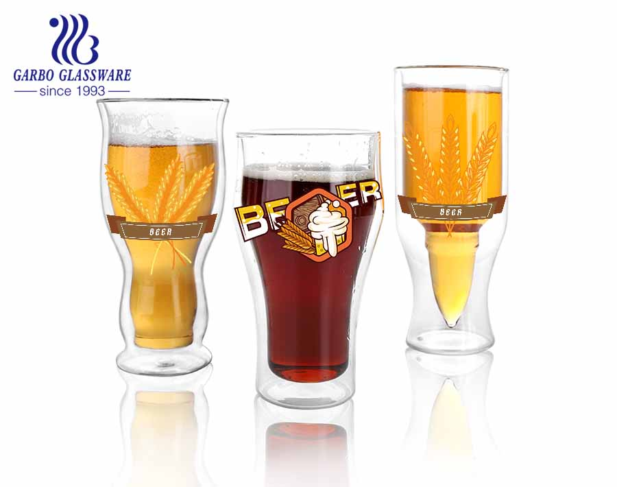 Glass drinkware personality style best selling Stock feature borosilicate glass cup european style cheap factory price Reusable wholesale household use borosilicate glass cup
