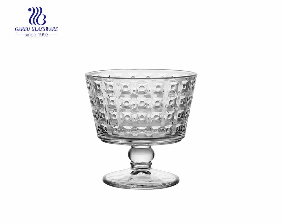 Crystal clear glass ice cream bowl 13oz Godinger glass dessert cup