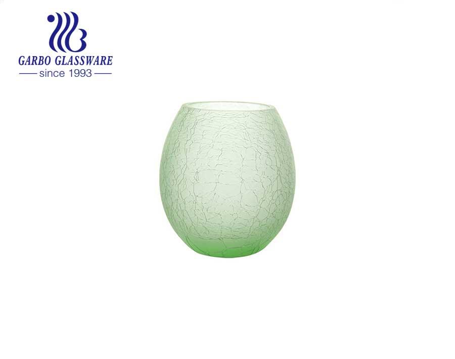 Blue Egg shape Special Tabletop Glass Vase Flower glass holder wedding party use