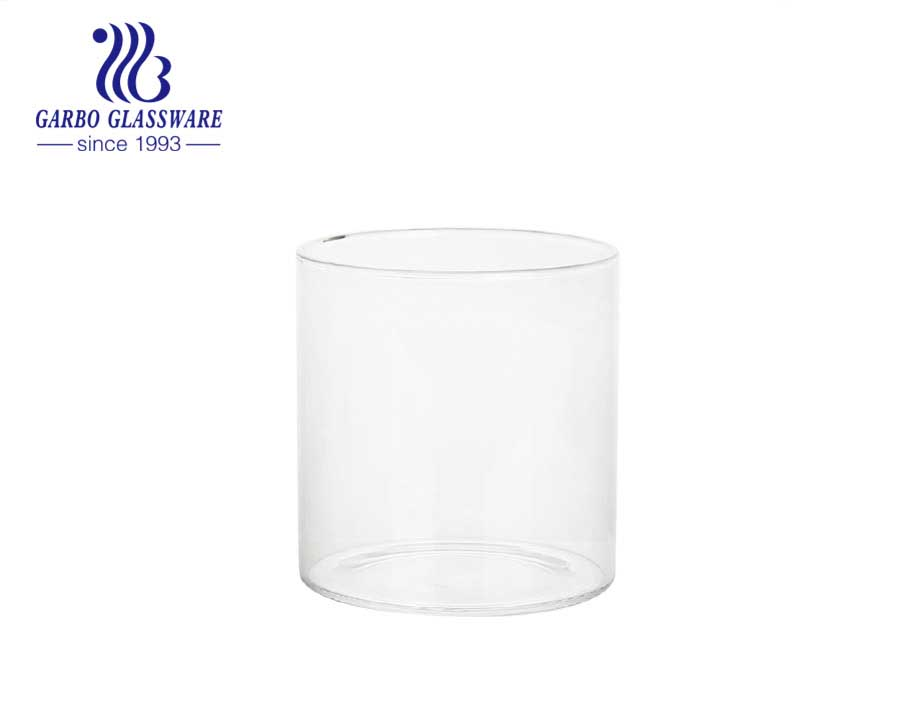 Stock feature european style Borosilicate Glass Cup Handmade cheap factory price Reusable wholesale Innovative custom design newest style glass cup