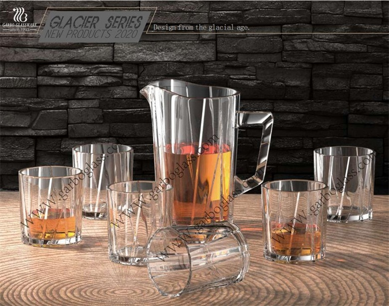 New Arrival  Garbo Unique Design Glacier Series Glass tableware