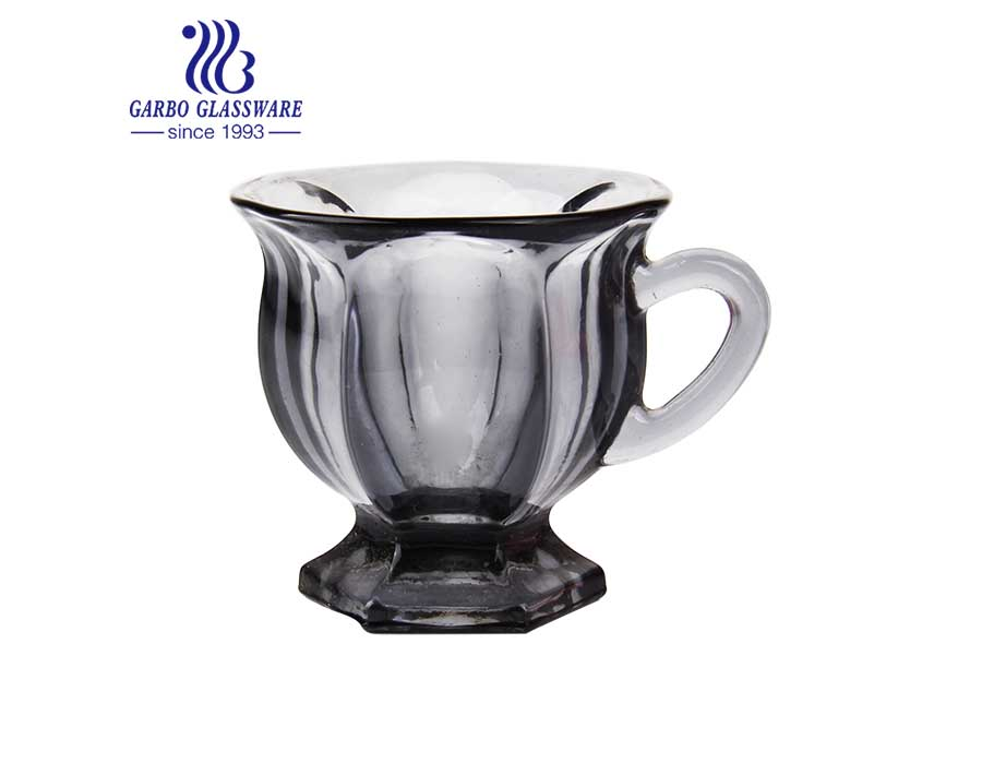 wholesale 3oz high quality solid color glass tea mug for restaurant and home using