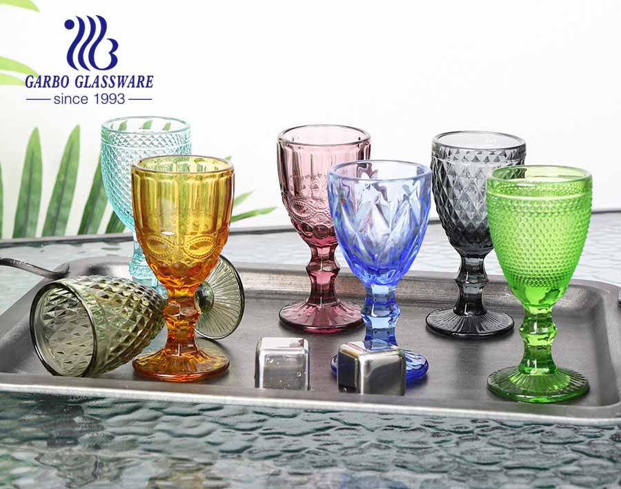 50ml solid color green glass goblet for spirits drinking for bar using high quality glassware