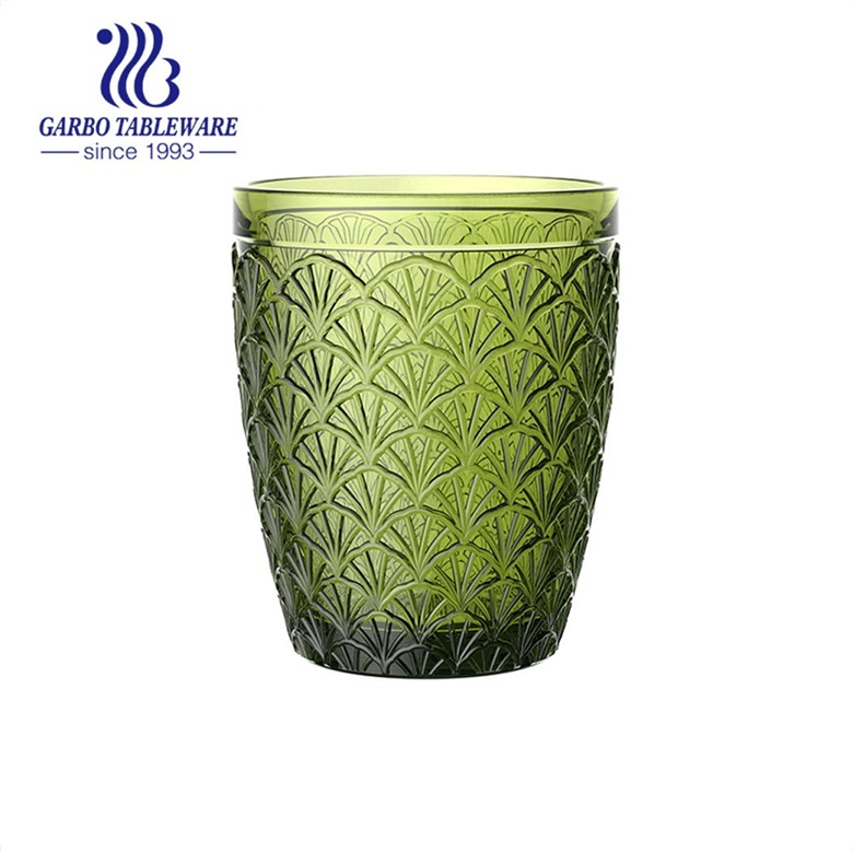 embossed glass cup wholesale