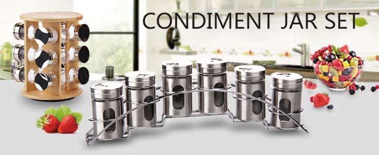 3 قطعة مجموعة برطمان توابل صناديق توابل تخزين بهارات زجاجية للمطبخ