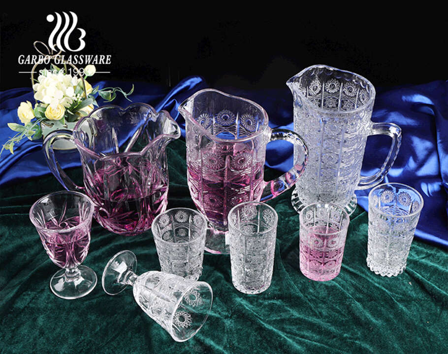 What kinds of products do Garbo Arabic style crystal glass sunflower series contain?cid=3