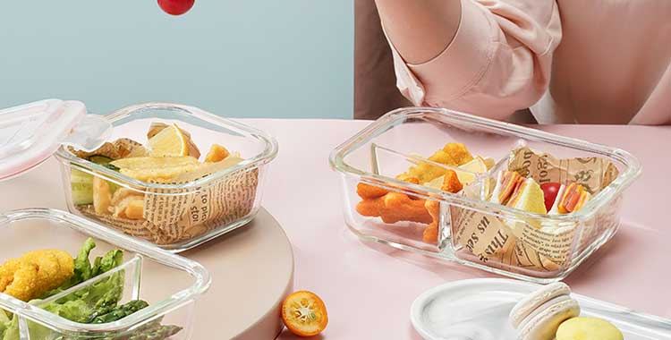 6 kinds of locking lid for airtight leak proof glass food containers