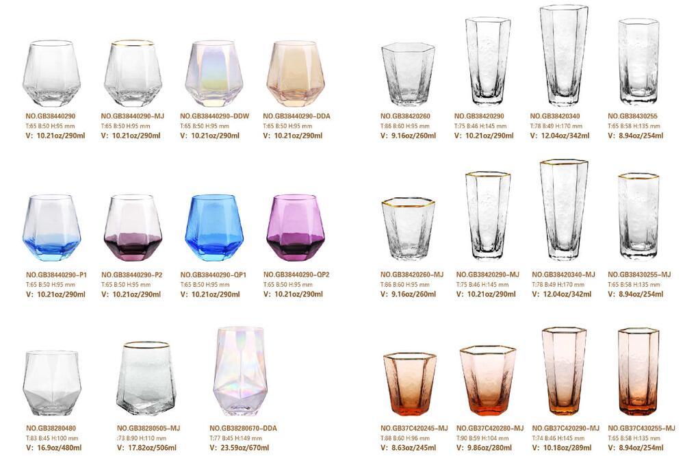 ガルボウィークリープロモーション:手作りの六角形ガラスカップ