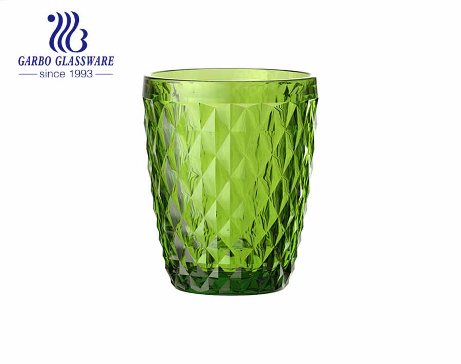 8oz round water juice drinking glass tumblers spray color for restaurant hotel
