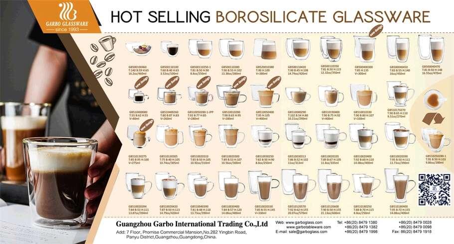 ガルボウィークリープロモーション:売れ筋の二重壁ガラスカップ