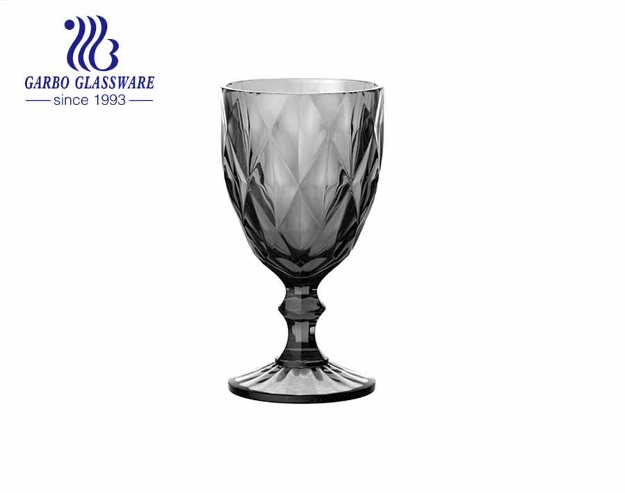 10 أوقية عالية الجودة رذاذ اللون الزجاج كؤوس النبيذ الشرب للديكور المنزل