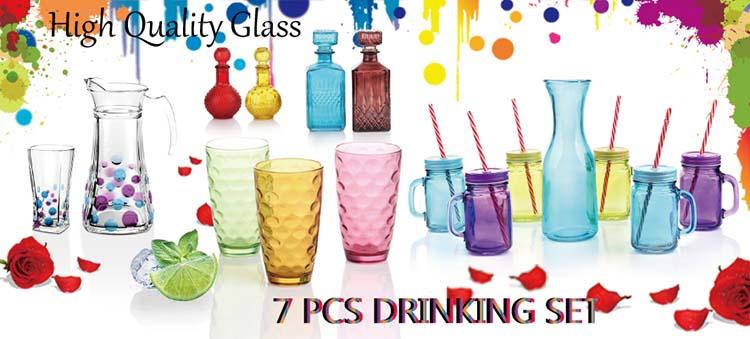 كوب كلاسيكي من الزجاج الصخري ، كوب مخفوق الحليب ، كوب عصير زجاجي بدون جذع مع ألوان متعددة