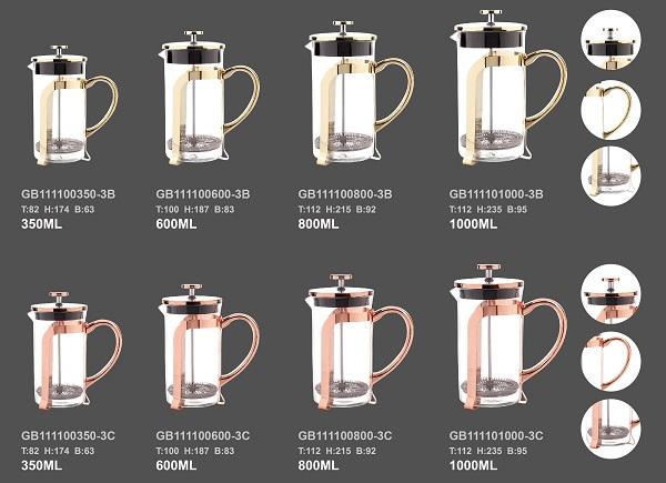 ガラスコーヒーメーカー工場
