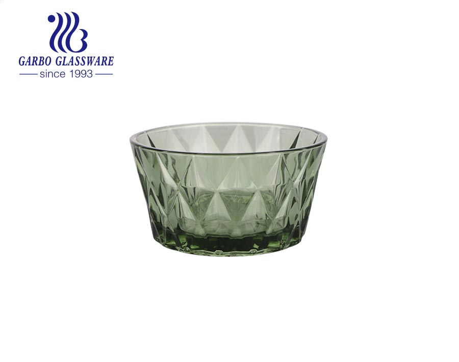 آلة صنع زجاج الزيتون الأخضر الماس تصميم الزجاج سلطة الحلوى وعاء الآيس كريم مع سعر المصنع
