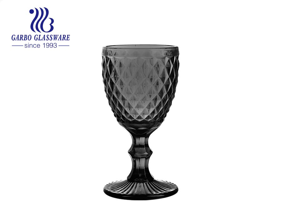 Dụng cụ thủy tinh chất lượng cao màu xám 8oz dùng để uống nước ép rượu