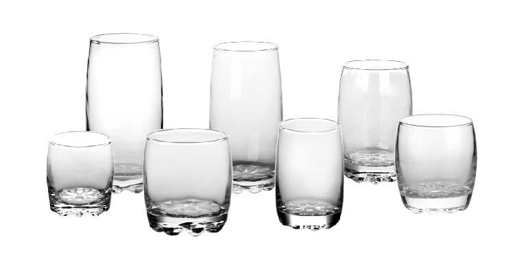 Deli brand in stock transparent hexagonal glass beverage juice tumbler with low MOQ