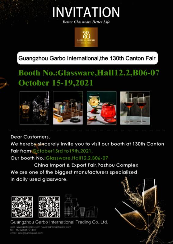 Garbo Tableware 130th Canton Fair Invitation Letter