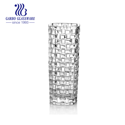 Wholesale elegant square glass vase 15cm height