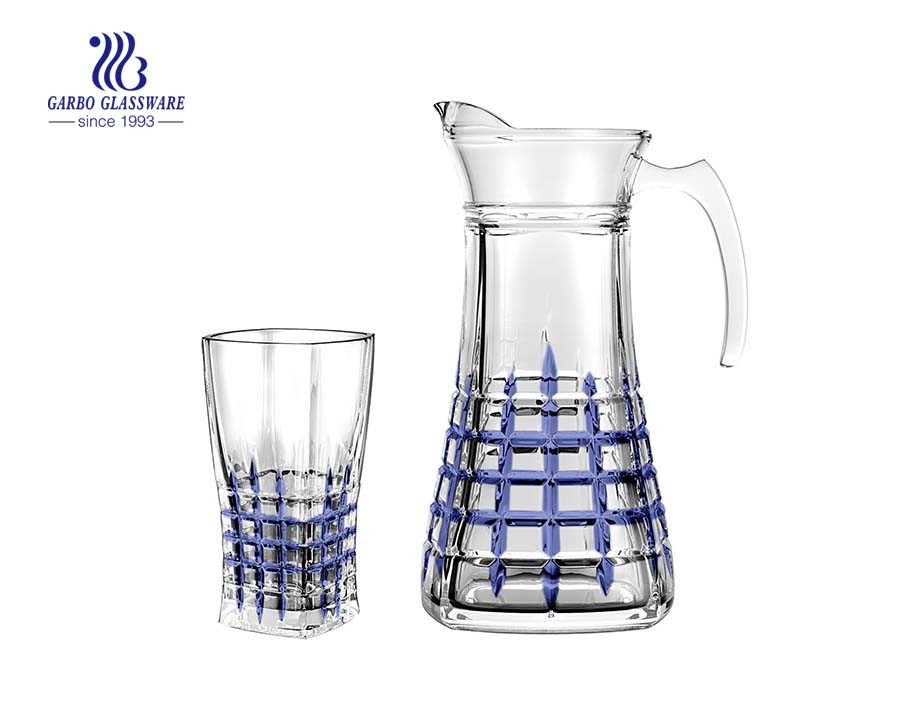 Spray personalizado colorido 7pcs vidro conjunto de água potável