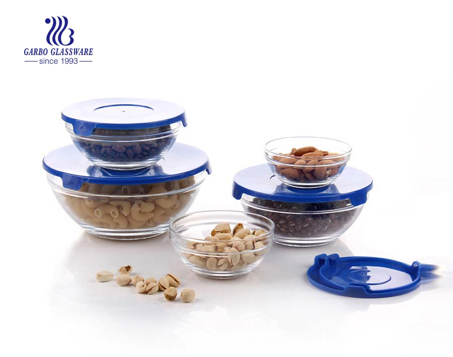 Wholesale cheap price 5pcs glass salad bowl set