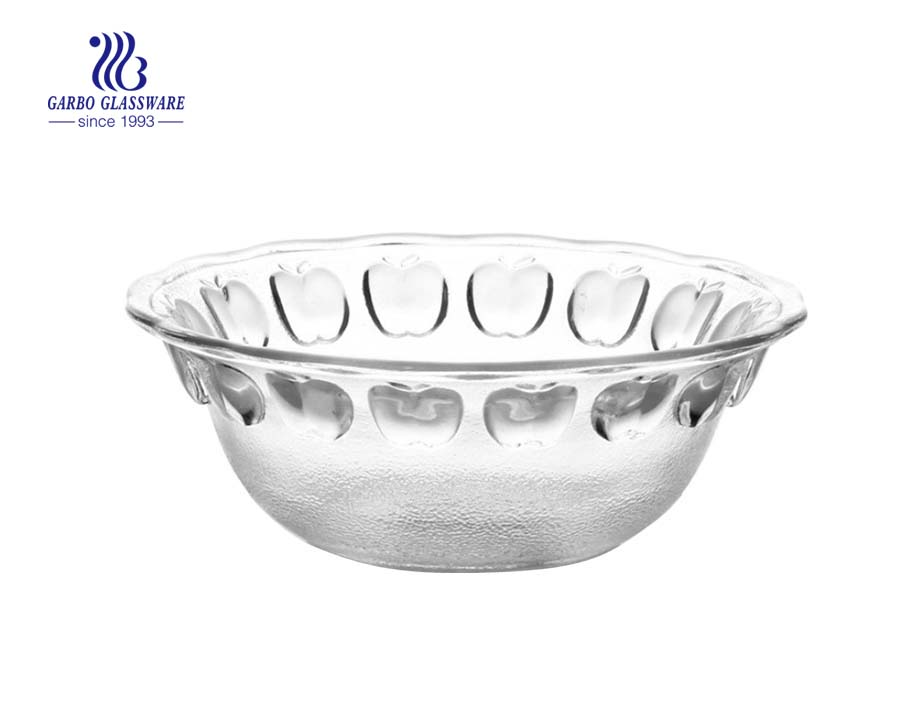 STOCKED 5 size classic apple shape glass bowl