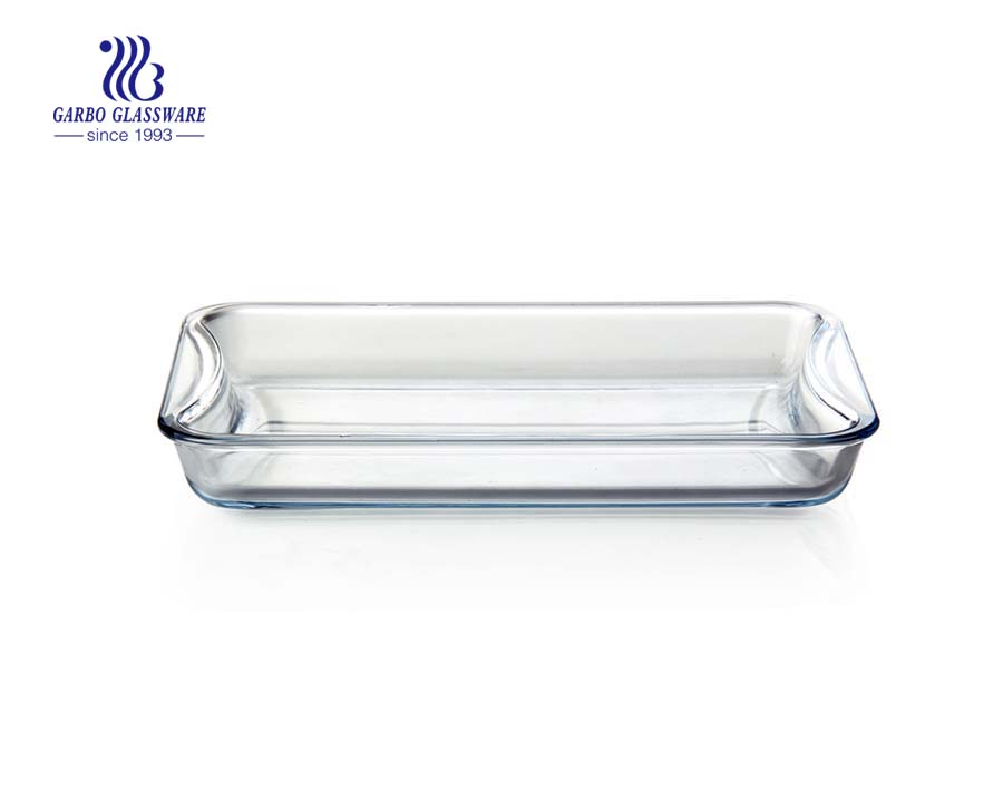 High borosilicate 1.8L Baking glass dish for microwave