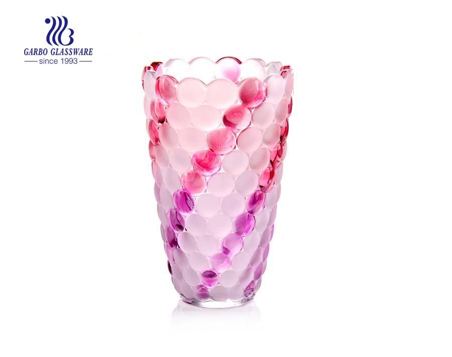 China fábrica vaso de vidro colorido para decoração de casa