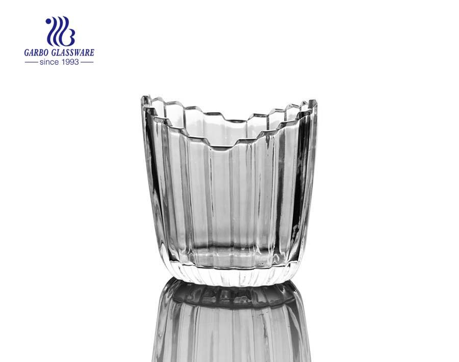 5inch simple design glass napkin holders for restaurant