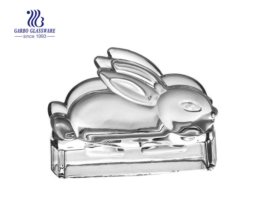 Glass rabbit shape napkin holder wholesale