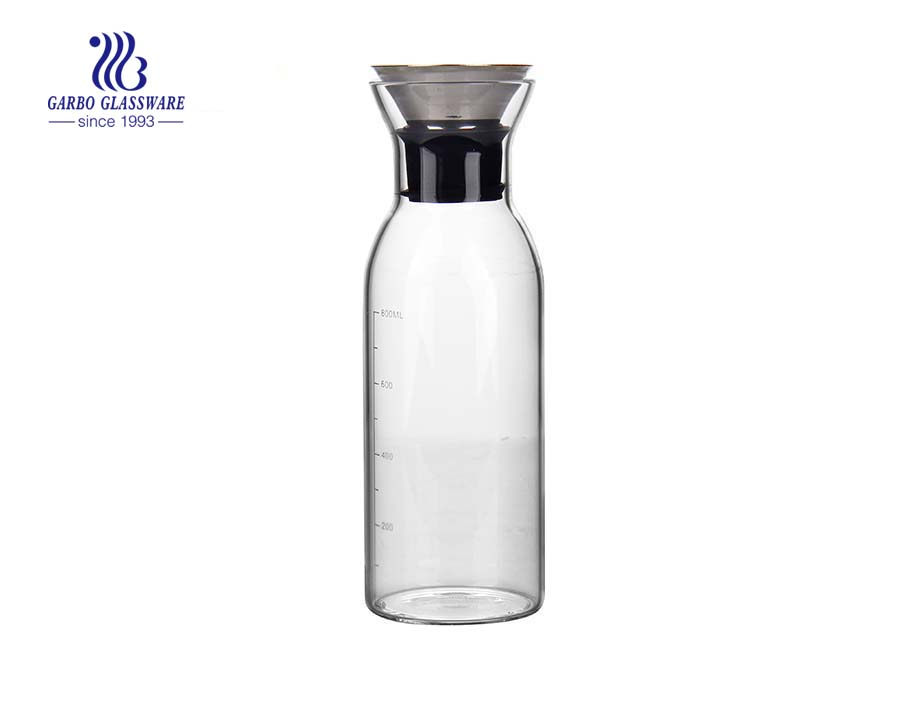 304 Stainless steel lid pyrex glass carafe suppliers