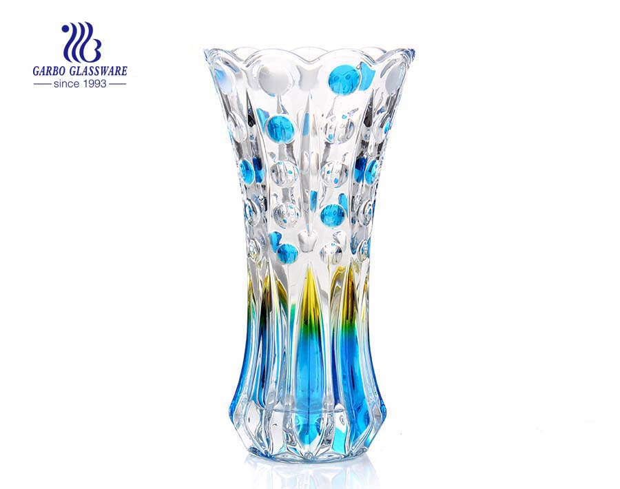 China manufacture bubble design glass vase for home decor
