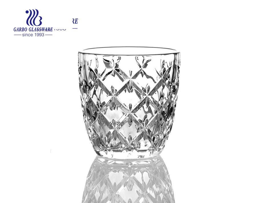 Set of four/six  fashioned glass wine tumblers