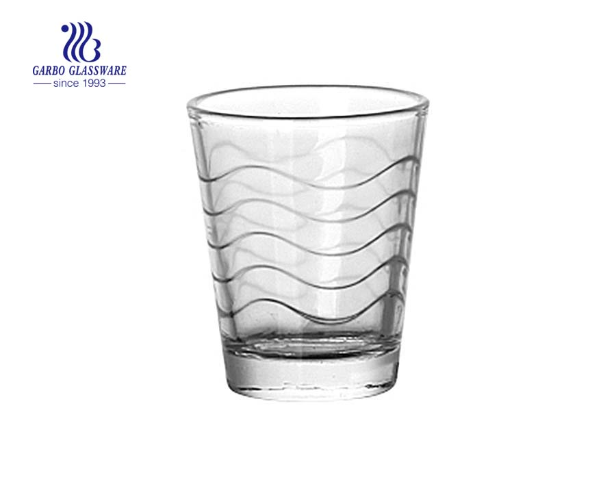 Copo de vidro da água do projeto da onda 60ml
