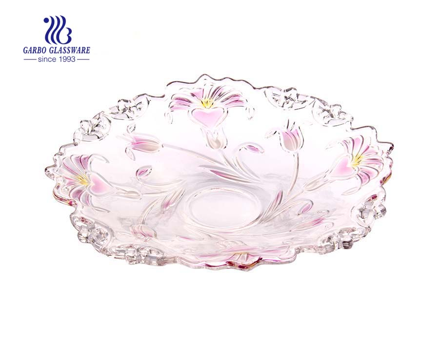 Glass Fruit Plate for Home Decoration