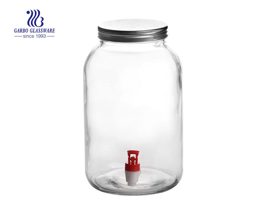 2500ml high quality Wholesale glass dispenser jar beer storage jar