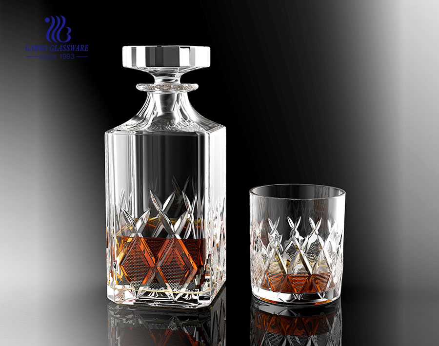 Factory Wholesale Bar Glass Decanters with Cups GB12024HT