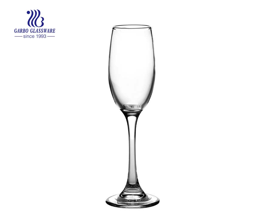 160ml hot selling cheap factory glass champagne flute GB08GL3096