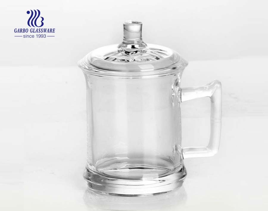 12oz tea set glass with handle