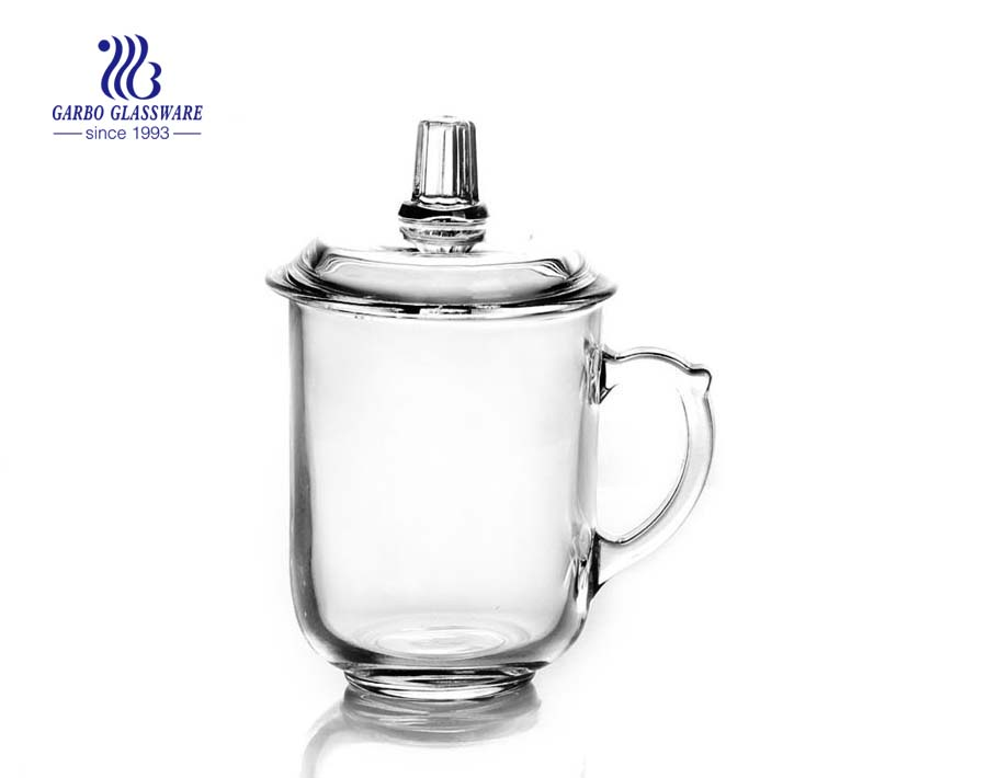 375ml glass tea mug with handle