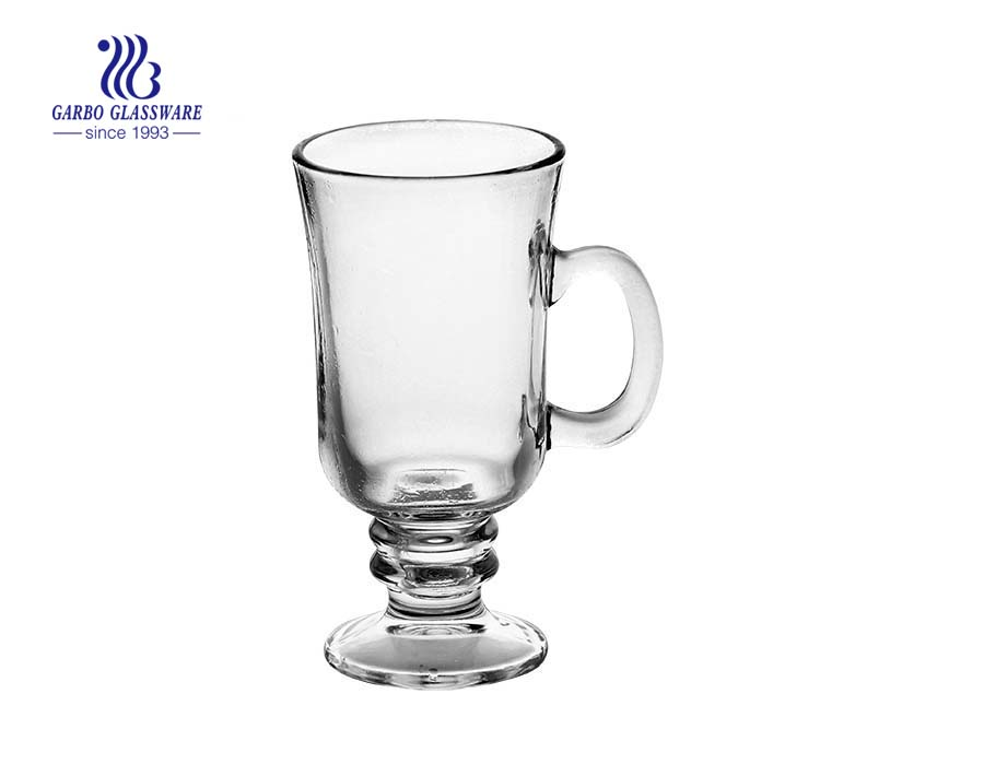 footed irish coffee glas with 237ml