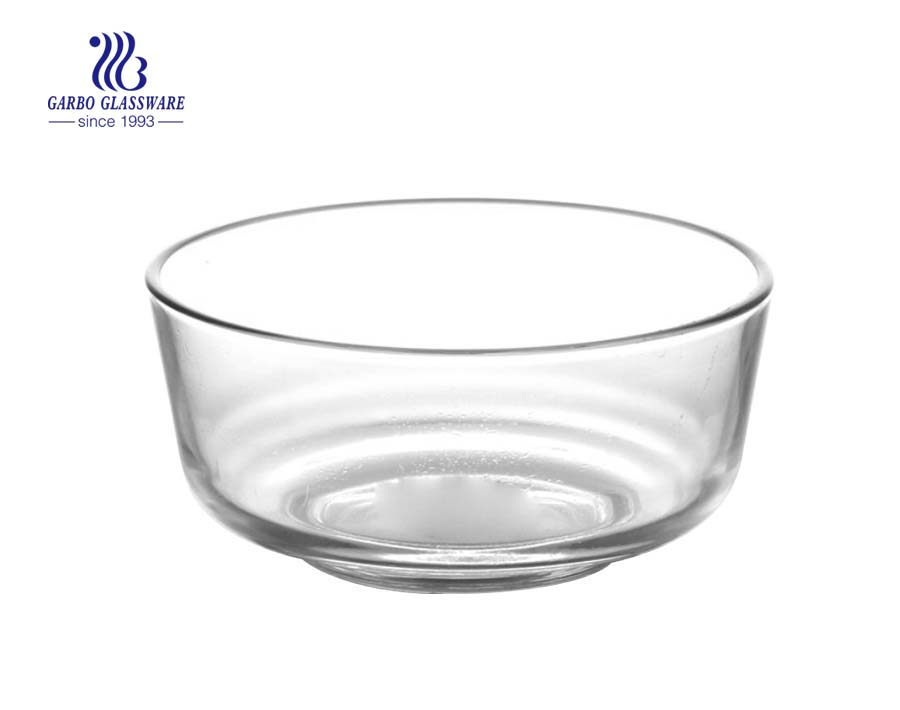 1.2L STOCKED clear glass serving bowl for soup