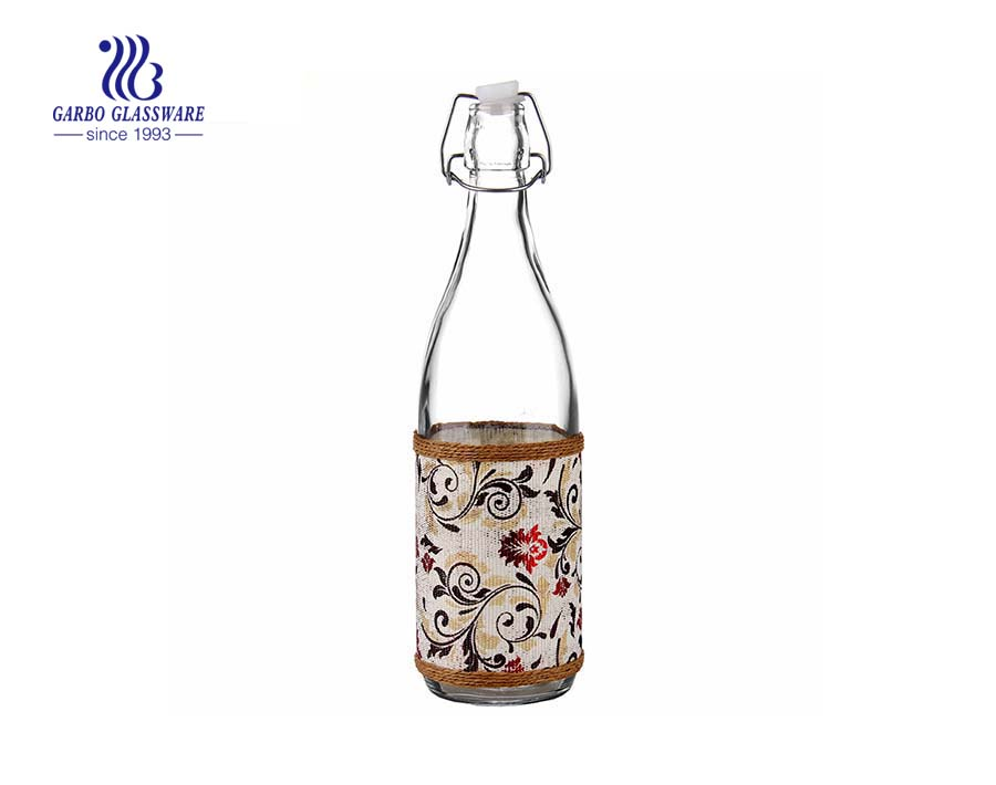 1L clear glass bottle made in China